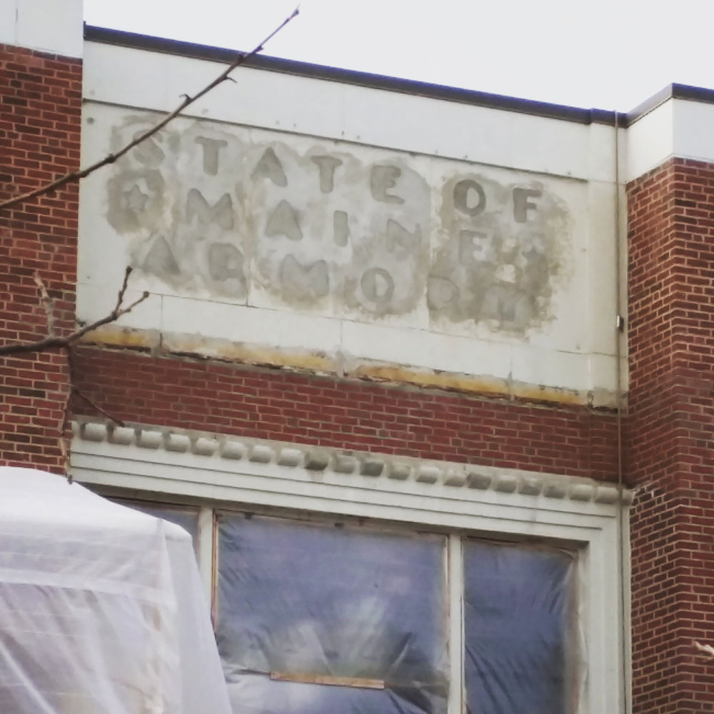 State of Maine Armory sign