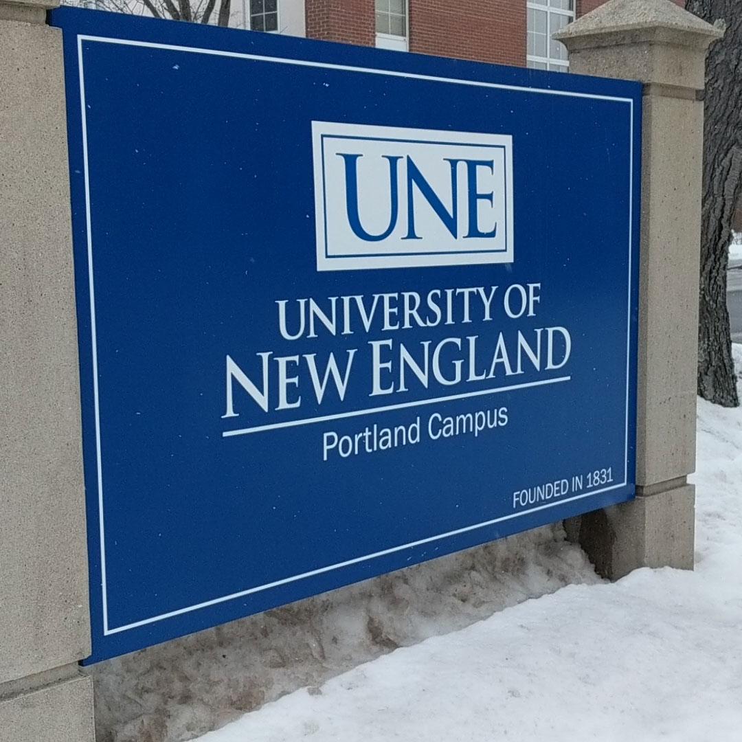 UNE Portland campus sign
