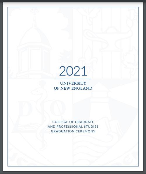 UNE Class of 2021 Commencement Program